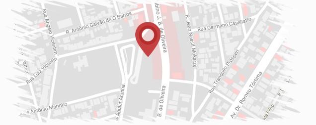 mapa academia chris sports barao geraldo
